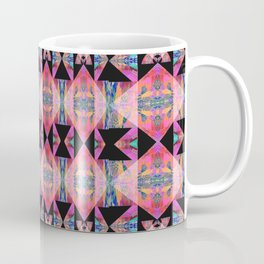 Diamond Geometric Power Pattern in Broad Spectrum Pink Coffee Mug