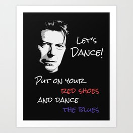 Let's Dance Song Lyric Art Print Art Print