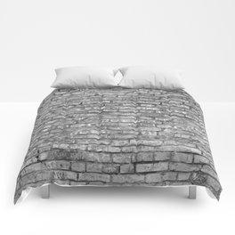 Vintage Brick Wall Comforters