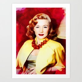 Gloria Grahame, Vintage Actress Art Print