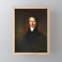 Washington Allston - William Ellery Channing Framed Mini Art Print