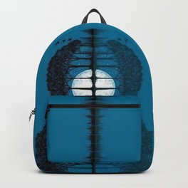 Trees sea and the moon turned guitar Backpack