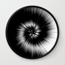 TIE DYE #1 (Black & White) Wall Clock