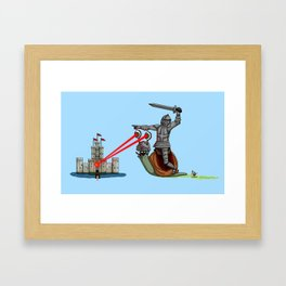 The Knight and the Snail - Random edition Framed Art Print