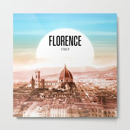 Florence Wallpaper Metal Print