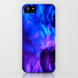 BLUE GLOWSTICKS iPhone Case