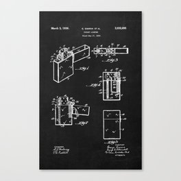 pocket lighter zippo black chalkboard Canvas Print