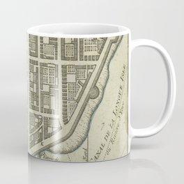 Vintage Map of Lower Manhattan (1764) Coffee Mug
