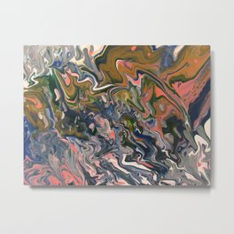 Pearlescent Seafoam Metal Print