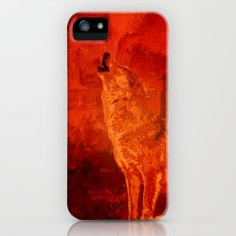 Fire Wolf iPhone Case