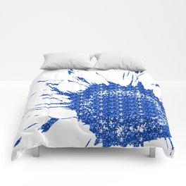 Sparkley Blue Flower Comforters