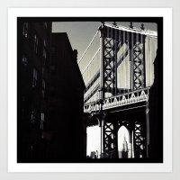 brooklyn Art Prints featuring brooklyn by trebam