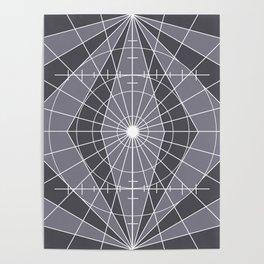 Monochrome Minimalist Geometric Lines Design Poster