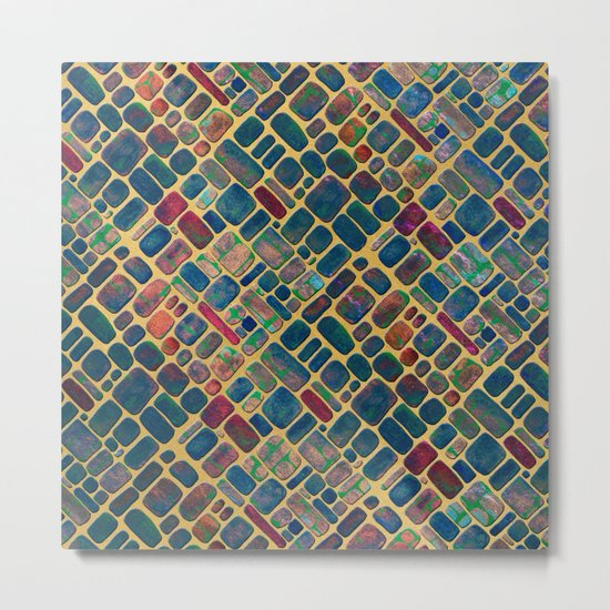 Abstract Tile Mosaic 2 Metal Print