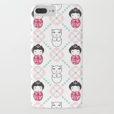 Kokeshi & Lucky Cat iPhone 7 Plus Slim Case