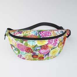 Bright Colorful Floral painting Fanny Pack