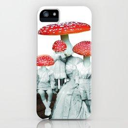 amanita muscaria with children iPhone Case