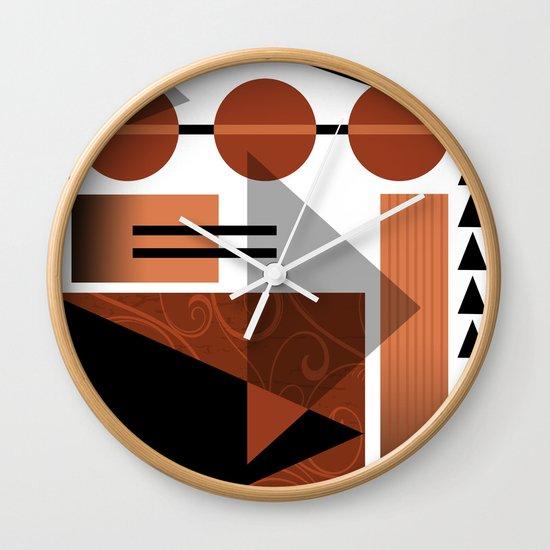 AZTEC DESERT | brown Wall Clock