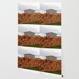 Firewood and Barn Wallpaper