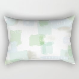 Abstract Conundrum Blue and Green Rectangular Pillow