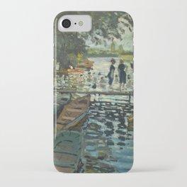 Bathers at La Grenouillere by Claude Monet iPhone Case