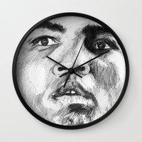 ali Wall Clocks featuring Ali by DeMoose_Art