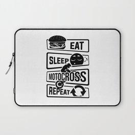 Eat Sleep Motocross Repeat - Motorcycle Motorsport Laptop Sleeve