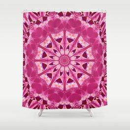 Mandala rhodochrosite Shower Curtain