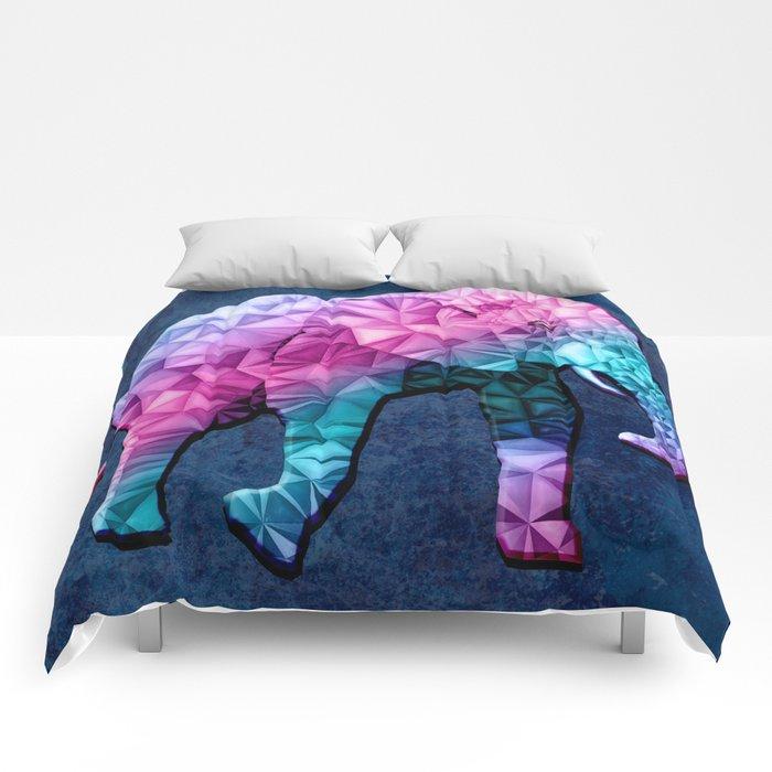 abstract elephant Comforters
