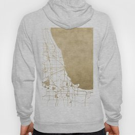 Chicago Gold and White Map Hoody