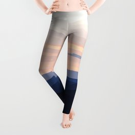 Pastel Sunset Over the Mountains Leggings