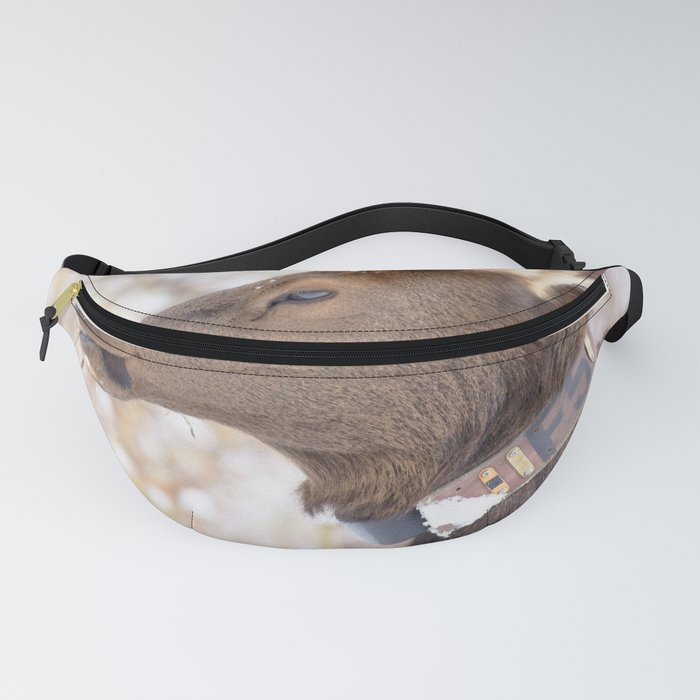 Watercolor Elk Cow 10 Fanny Pack