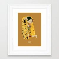 klimt Framed Art Prints featuring klimt by Live It Up