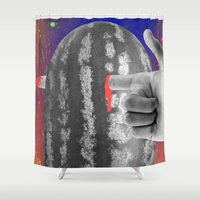 positive Shower Curtains featuring Positive Reinforcement by Tyler Spangler