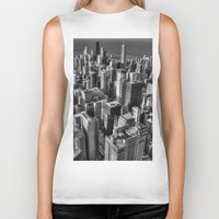 chicago Biker Tanks featuring Chicago by Claude Gariepy