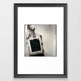 the riddle Framed Art Print