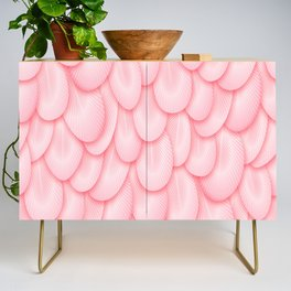 Spoonbill Feathers Credenza