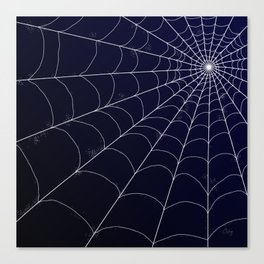Spiderweb on Midnight Canvas Print