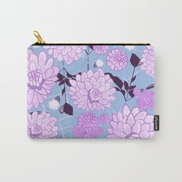 Soft calming lilac spring florals design Carry-All Pouch