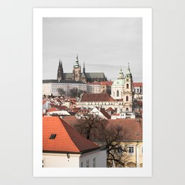 A glimpse on Prague Art Print