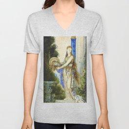 """Gustave Moreau """"Salomé à la colonne (Salome With Column)"""" Unisex V-Neck"""