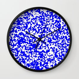 Small Spots - White and Blue Wall Clock