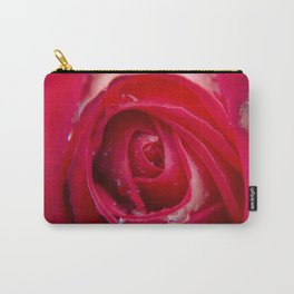 Intense Red Rose After the Rain Carry-All Pouch