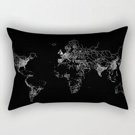 World map Lines Rectangular Pillow
