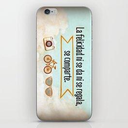 Felicidad - Happiness iPhone Skin