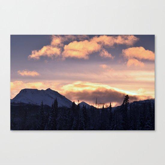 Flat Top Sunrise Serenity Rose Canvas Print