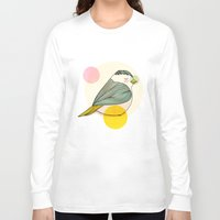 nan lawson Long Sleeve T-shirts featuring Little Bird by Nan Lawson