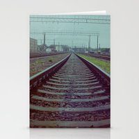 russia Stationery Cards featuring Railroad. Russia. by Slava Joukoff