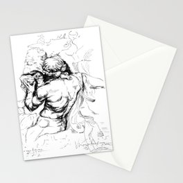 Sculpture from piazza Navona Roma Stationery Cards