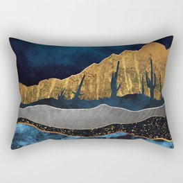 Midnight Desert Moon Rectangular Pillow